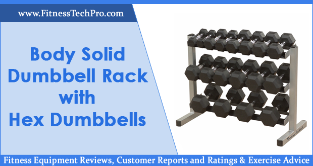 Body Solid GDR363 Dumbbell Rack with Hex Dumbbells