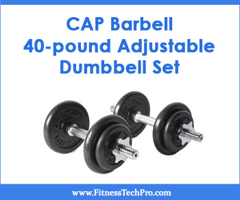 CAP Barbell 40-pound Adjustable Dumbbell Set
