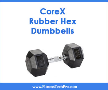 Corex Rubber Hex Dumbbells