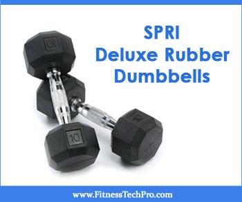 SPRI Deluxe Rubber Dumbbells