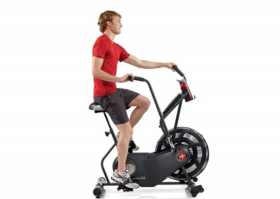 Man on Schwinn Airdyne AD6 exercise bike.