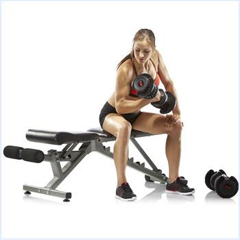 Bowflex SelectTech 1090 Adjustable Dumbbell Exercise