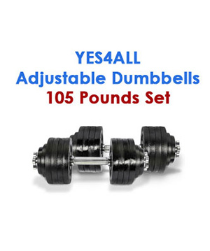 Yes4All Adjustable Dumbbells 105 pounds