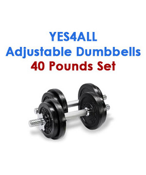 Yes4All Adjustable Dumbbells 40 pound