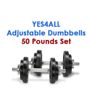 Yes4All Adjustable Dumbbells 50 Pounds