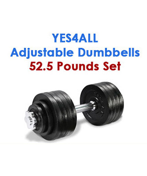 Yes4All Adjustable Dumbbells 52 Pounds
