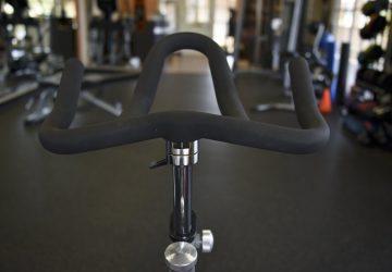 folding exercise bike handle