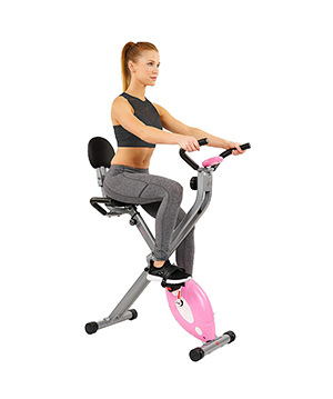 Sunny health recumbent folding exercise bike