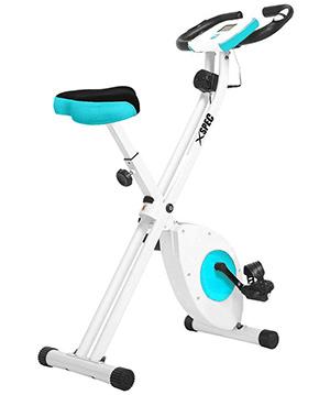 Xspec folding stationary exercise bike