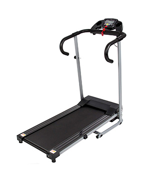 Black 500W Folding Electric Treadmill
