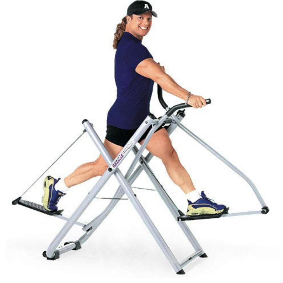 man using the elliptical gazelle glider