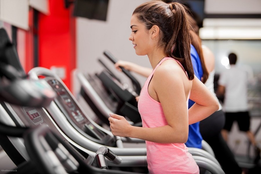 fitness treadmill woman
